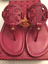 NIB Authentic Tory Burch Miller Fuchsia Pink Sandal Flip Flop 7.5 Free Ship