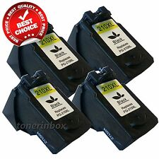 4 Pack PG-210XL PG210XL Black Ink Cartridges for Canon MP495 MX320 MX340 Printer