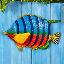 Tropical Fish Bathroom Decor Accessories Wall Hanging Fence Sunroom Beach Deck