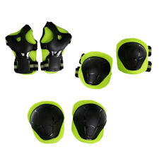 6Pcs Knee Pad Elbow Pads Helmet Guards for Bmx Skateboard Toddler Green