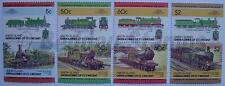 1985 UNION ISLAND Set #3 Train Locomotive Railway Stamps (Leaders of the World)