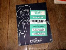 pauvre Mimi ! complainte des rues du film Coquecigrole piano chant 1931 Pollet