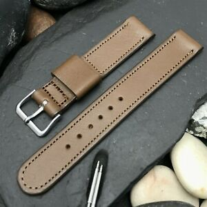 A-11 Elgin Buckle & 5/8 Champion Short Brown Calf Leather nos Vintage Watch Band