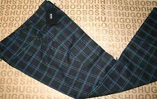 Neuf Hugo Boss Black Check Homme Golf Casual Smart Laine Pantalon Pantalon 38 R