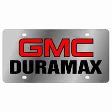 Stainless Steel GMC Duramax Black Red Black License Plate Frame 3D Novelty Tag