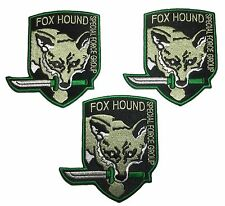 Metal Gear Fox Hound Special Forces Green Knife Iron On Patch Set of 3 Patches