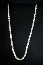 """4MM MEN'S WOMEN'S 925 SOLID STERLING SILVER HEAVY ROPE CHAIN NECKLACE 20"""""""