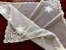 De Colección Bufanda de encaje blanco de Tul 22x25 pulgadas Mantilla