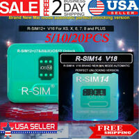 RSIM14 V18/RSIM12 V16 Nano Unlock RSIM Card for iPhone XS MAX/XR/8/7/6 iOS12 Lot