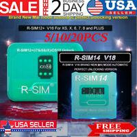RSIM14 V18/RSIM12 V16 Nano Unlock RSIM Card for iPhone XS MAX/XR/8/7/6 iOS12 Lot