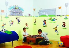 FunToSee Football Themed Children's Wall Decals, Soccer Theme