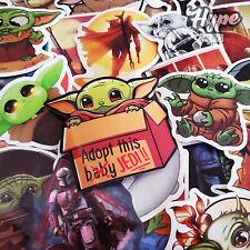 50PCS Baby Yoda Stickers, Mandalorian Baby Yoda Skateboard Laptop  Sticker Pack