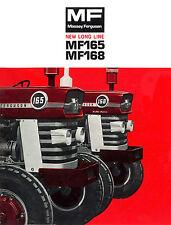 Massey Ferguson MF165 MF168 Australian Brochure 1970s