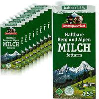 10x Berchtesgadener Land H-Milch fettarm 1,5% 1 Liter - Haltbare Bergbauernmilch