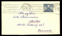 Germany #688 Cover Hamburg to Denmark 31.1.53 CDS