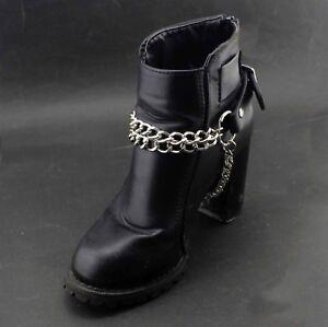 1 Pair Women Metal Boot Chain Bracelet Western Shoe Charm Spike
