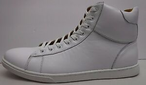 Steve Madden Size 9 White Leather Hi Top Sneakers New Mens Shoes