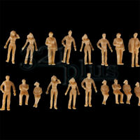 100 pcs. O Scale 1:48 People Minature Accessories sitting standing Human Figures