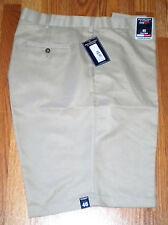 Roundtree & Yorke Men's Shorts Classic Fit Khaki 100% Cotton (46 x 11 Tall)
