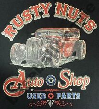 T-Shirt #267 RUSTY NUTS, Hot Rod Dragster US-Cars Classic-Car Oldtimer Route 66