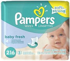 Pampers Soft Care Baby Wipes Refills, Baby Fresh 216 ea (Pack of 2)