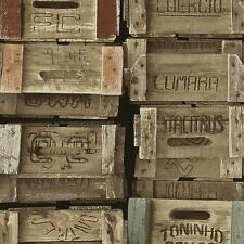 Wooden Crates Wallpaper Paste the Wall Times Feature Design 42108-10