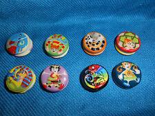 Yo-Yo Miniature Yo-Yos Set of 8 Tiny Figurines French Mini Porcelain Feves Yoyo