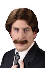 70's Man Wig & Mustache for Halloween Costume
