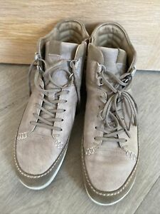 Ecco Mens Casual Boots Euro 42 Uk Size 8!Taupe Leather And suede Cost £140 New