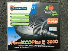 neu superfish pond eco plus e 3500 nur 14 watt stromverbrauch pumpe