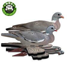 6 x FUD Folding Pigeon Decoys Shooting Decoying GENUINE 2017 UV ENHANCED