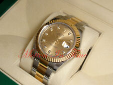 Rolex Datejust II 41mm Oyster Perpetual Two-Tone Champagne Diamond Dial 116333