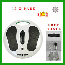 NEW Electromagnetic Wave Pulse Circulation Foot Booster +Tens Massager + Gloves