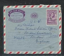 BECHUANALAND (P2708B) QEII 5C/6D AEROGRAMME 1961 TO ENGLAND, LONG MSG