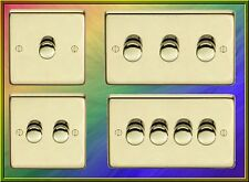 SATIN BRASS DIMMER SWITCH LIGHT SWITCH. LED OR STANDARD DIMMER OPTIONS AVAILABLE