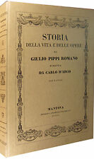 Storia della vita e delle opere di Giulio Pippi Romano CARLO D'ARCO con tavole