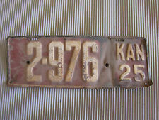 Vintage 1925 Kansas License Plate #2-976