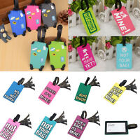 TRAVEL Holiday Suitcase / Luggage ID Tags Labels NAME ADDRESS ID SUITCASE Bag
