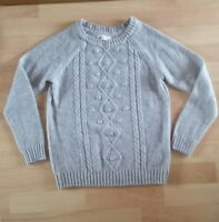 NEW GIRLS AGE 8-10 YEARS H&M JUMPER SWEATER TOP GREY WITH PATTERN