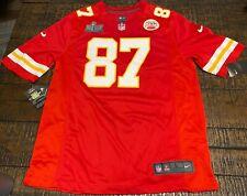 Nike Travis Kelce #87 Kansas City Chiefs Super Bowl LIV   Game Jersey 689312 667