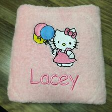 NEW EMBROIDERED BATH  TOWEL  - ' HELLO KITTY'