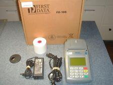 First Data POS Credit Card Machine, FD100 Terminal w/ FD-10C Pin Pad