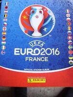 PANINI FOOTBALL FRANCE UEFA EURO 2016 STICKER BOOK ALBUM EMPTY &  STICKERS