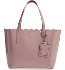 kate spade new york Women's Lily Avenue Patent Small Carrigan, Porcini/Rose Taup