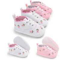 Newborn Infant Baby Girl Floral Crib Shoes Sole Anti-slip Sneakers Canvas