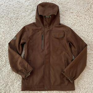 686 Plexus Snowboard Jacket Mens Medium Brown Softshell Waterproof Vented