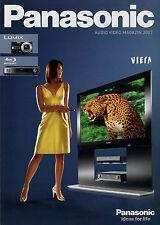Catalogo Panasonic Audio Video rivista 2007 Cuffie TV DVD Camcorder