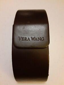 Vera Wang Brown Oversize Glasses Hard Shell Case for Sunglasses or Eyeglasses