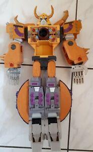 "Large yellow Transformer 18"" Samurai looking Action Figure Toy"