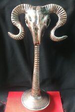 """Vintage Handmade Mountain Goats Ram Sheep Bighorn Sculpture 16""""Statue Home Decor"""